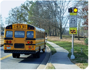 Vulcan Signs - Radarsign's Radar Sign w/ School Bus